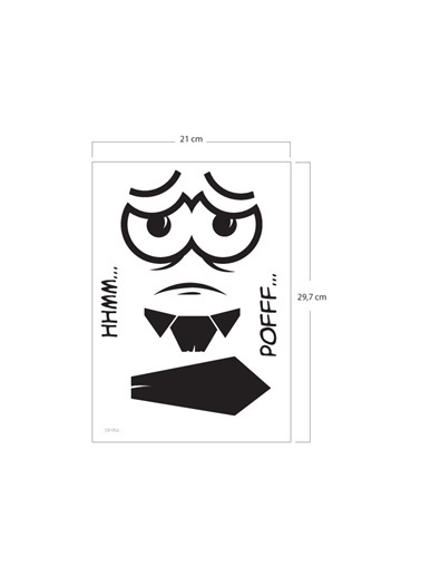 Disney Yorgun Klozet Sticker 18X25 Cm Renkli